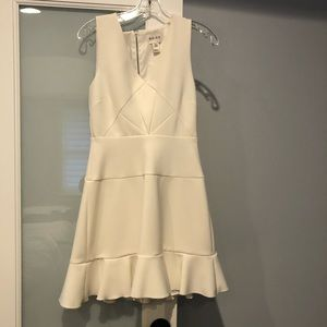 Reiss Fit and Flare White Dress